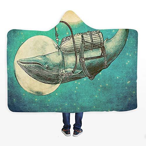 ZYJFP warme capuchon deken, winddicht kind pluche volwassen persoonlijkheid mantel capuchon, met badjas winddicht, voor het lezen in bed of het lezen van een boek op de bank kijken tv, 150 * 200
