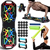 Jeteven Push Up Board, 13 in 1 Push Up Rack Board Pieghevole e Multifunzione Attrezzature per Fitness per Allenamento Muscolare, per Uso Domestico