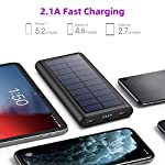 Solar Power Bank 26800mAh, HETP 【2020 Newest Solar Portable Charger】 Portable Charger External Backup Battery Pack with… 4