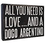 JennyGems Dogo Signs - All You Need is Love and a Dogo Argentino - Wooden Sign - Dogo Mom, Dogo Lovers, Dogo Gifts 2