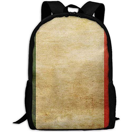 Lässige Schultasche Unisex-Reiserucksack,College-Computer-Rucksack,Tagesrucksack Alte italienische Flagge Lässige Schultasche Unisex-Reiserucksack,College-Computer-Rucksack,Tagesrucksack