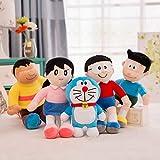 qwermz Juguetes Blandos, Animación De Dibujos Animados Doraemon Family Portrait Set Peluches Regalo De Cumpleaños De Navidad para Niños