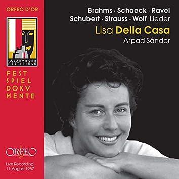 Brahms, Schubert, R. Strauss & Others: Art Songs (Live)