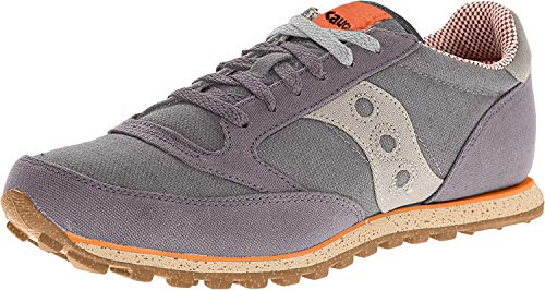 Saucony Originals Men's Jazz Low Pro Vegan Sneaker,Charcoal/Orange,8.5 M US