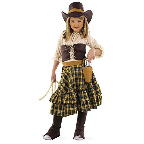 Limit Sport mi525 – Enfants Costume banditin 6 pièces (Chemise de Rock Gainant Bottes de Chapeau de Ceinture avec Revolver)