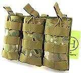 H World Shopping Tactical Molle M4 M16 AR15 - Bolsa para revistas con tapa abierta para airsoft (MC)
