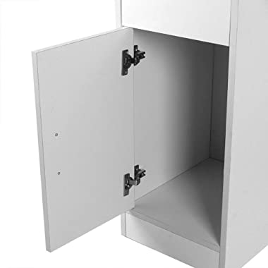 Bureau Informatique Table de l'ordinateur avec 1 Tiroir et 1 Porte Table Informatique Bureau d'ordinateur Durable Meu