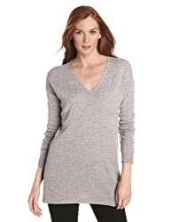Christopher Fischer Women's 100% Cashmere V-Neck Tunic Sweater