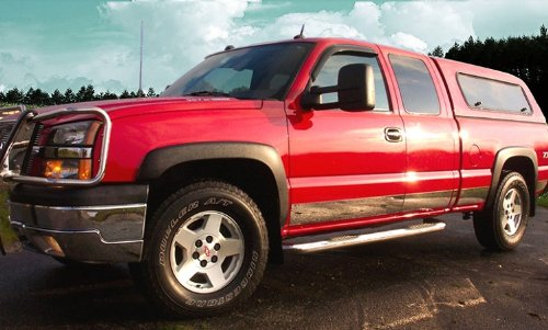 Made in USA! Compatible with 1999-2006 Chevy Silverado 4Dr Extended Cab Short Bed W/Fender Flare Rocker Panel Chrome Stainless Steel Body Side Moulding Molding Trim Cover 6' 12PC