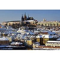チェコの冬のシーン - パズル300 500 1000 1500 2000 3000 4000 5000 6000個、大人と子供のための教育的なおもちゃ、ストレスの軽食のおもちゃ 0221 (Color : A, Size : 6000 pieces)