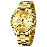 GOLDEN HOUR Reloj de Cuarzo para Hombre de Negocios de Moda con...