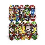 Mini Giocattoli per Le Dita, Mini Skateboard per Le Dita, Giocattolo per Pattini A Bordo del Camion della Piattaforma Perfetto per I Bambini, Casuale 1pc 9,5 Cm