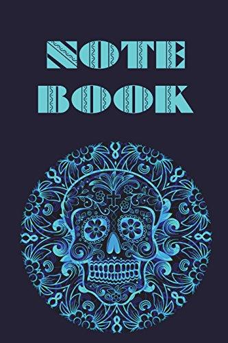 Notebook: Sugar Skull - Day of The Dead - Composition Book .  Cornell Notes  - Blue Green Ornate Sugar Skull