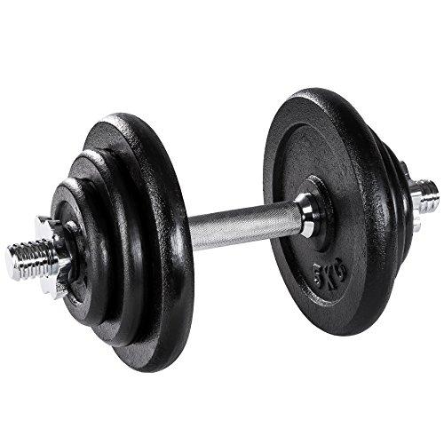 manubri palestra no pesi TecTake Manubrio con Pesi in ghisa Palestra Set Peso Fitness bilanciere - Modelli Differenti - (20kg | No. 402365)