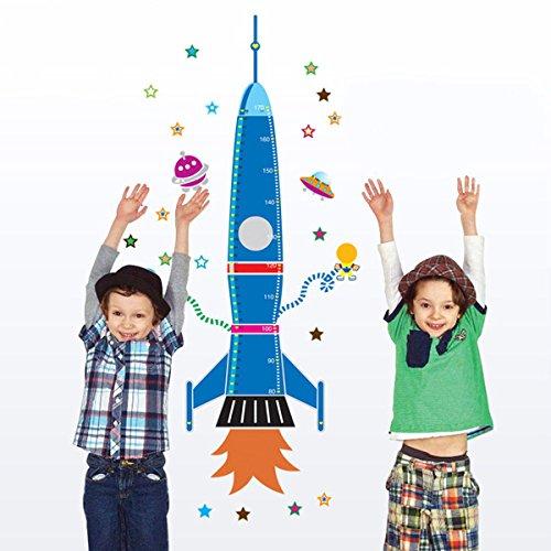 Pegatina Pared Vinilo Decorativo Adhesivo Decoración Infantil Para Hogar Dormitorio De Niño Niña Creativo Cohete Azul
