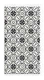 Panorama Alfombra Vinílica Hidráulico Oriental Mosaico Gris 200x250 cm - Alfombra Cocina Vinilo - Alfombra Salón Antideslizante e Ignífuga - Alfombras Grandes - Alfombras PVC