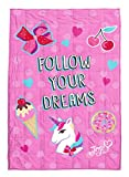 Nickelodeon JoJo Siwa Follow Your Dreams Weighted Blanket 5 lbs - Measures 40 x 60 Inches, Kids Bedding - Fade Resistant Super Soft Velboa (Official Nickelodeon Product)