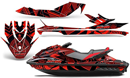 AMR Racing Jet Ski Graphics kit Sticker Decal Compatible with Sea-Doo GTI SE 2011-2014 - Conspiracy Red