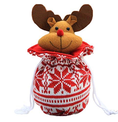 YiyiLai Geschenk Tasche T¡§1te Weihnachten Dekoration Bonbons Apfel Tasche Hirsch