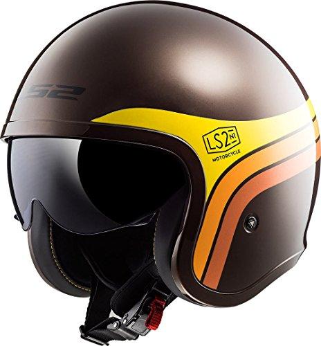 Casco moto LS2 SPITFIRE SUNRISE Marrone, Nero/Giallo, M