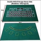 Juego de Mantel Doble Ruleta y tapete de Juego Blackjack Tejido no Tejido, 60x90cm