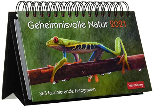 Geheimnisvolle Natur Premiumkalender 2021 - Tagesabreißkalender zum Aufstellen - Tischkalender mit hochwertigen Farbfotografien - in Geschenkbox - Format 23 x 17 cm