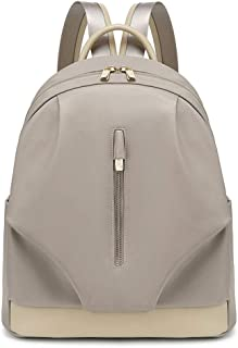 IhDFR Oxford Cloth Backpack Large Capacity Student Casual Backpack Ladies Wild Fashion Light Bag (Color : Apricot)