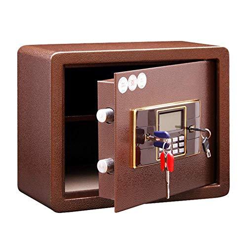 PIVFEDQX Safe Security Safe Digital Safe Electronic SteelFireproof Lock Box con Teclado para Proteger Las Cajas Fuertes del gabinete de Dinero (Color: Bronze, Size: 38x18x28cm)