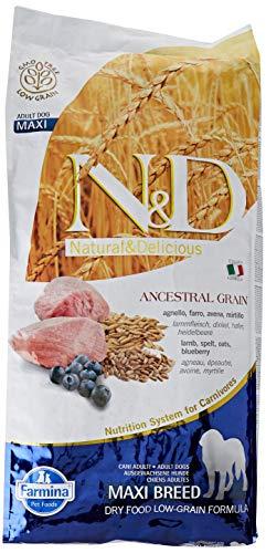 N&d low grain N& d Low Grain Maxi con Agnello e Mirtillo Secco Cane kg. 12, Multicolore, Unica