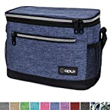 OPUX Premium Lunch Box, Insulated Lunch Bag for Men Women Adult | Durable School Lunch Pail for Boys, Girls, Kids | Soft Leakproof Medium Lunch Cooler Tote for Work Office | Fits 8 Cans (H Navy)