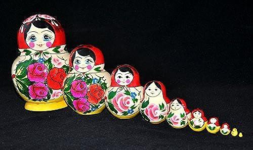 Babushka Semenov Nesting Doll (10-pc) 5H by Nesting Doll