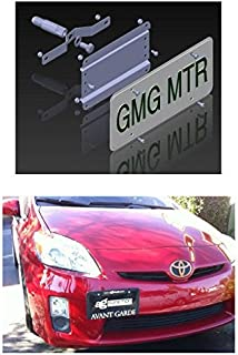 NO Holes License Plate Bracket Kit for The Toyota Prius Hybrid Plug in & V (Gen3 / XW30) Non C Models No Drill Tow Hook License Plate Mount