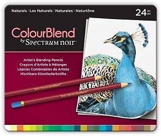 Spectrum Noir ColourBlend Premium Blendable Artists Pencils, Naturals, Pack of 24, 0 19.5 x 23.2 x 1.5 cm