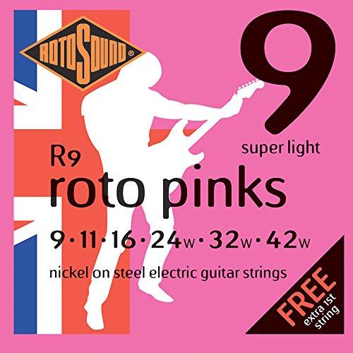 Rotosound R9 - Juego de cuerdas para guitarra eléctrica de níquel, 11 16 24 32 42