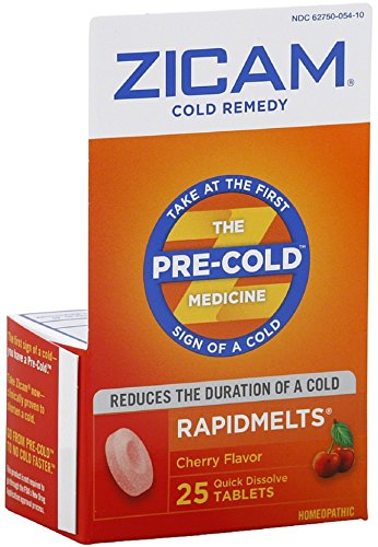 Zicam Cold Remedy RapidMelts, Cherry 25 ea (Pack of 3)