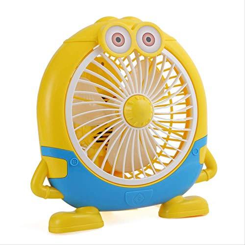 Sommer Cartoon Student Office Desktop kleine gelbe Mini Tischventilator Wohnheim Schlafsaal kleine elektrische Ventilator kaufen eine bekommen eine kostenlos