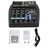 Carte son de mixage audio 4 canaux, 100~240V 20Hz ~ 20KHz/± 0.5dB Table de mixage...