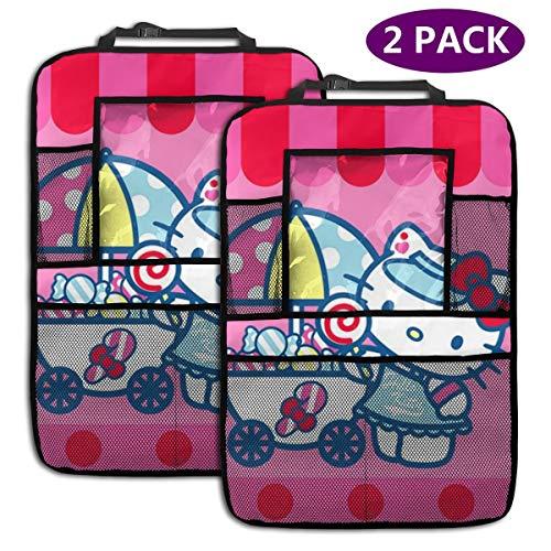 TBLHM Hello Kitty Baby Shower Lot de 2 organiseurs pour siège arrière de Voiture avec Support pour Tablette