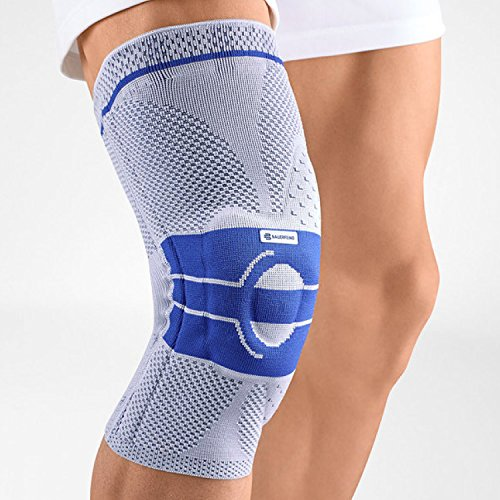Bauerfeind GenuTrain A3 - Knee Support - Helps Relieve Chronic Knee Pain and Irritation - Left Knee - Size 3 - Color Titanium