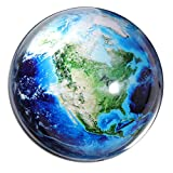 Waltz&F Crystal American Continent Paperweight Galss Globe Hemisphere Exquisite Home Office Table Decoration 2.7''