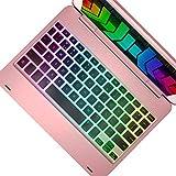 YEKBEE iPad Keyboard Case for iPad 2018 (6th Gen) - iPad 2017 (5th Gen) - iPad Pro 9.7 - iPad Air 2 & 1 - Thin & Light - 135° Folding - Wireless/BT - Backlit 10 Color - iPad Case with Keyboard
