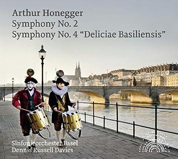 "Honegger: Symphony Nos. 2 & 4 ""Deliciae Basiliensis"""