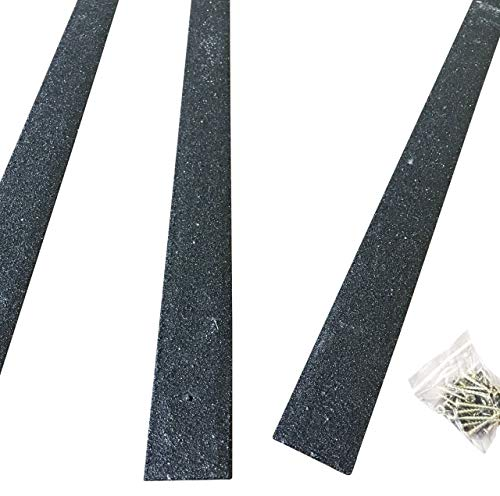 Anglia Composites Lot de 20 bandes antidérapantes pour terrasse, 50 x 1 000 mm, noir