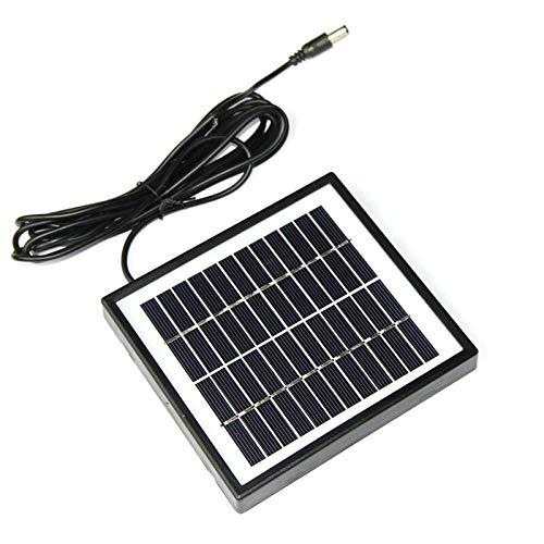 NUZAMAS - Mini celle a pannello solare da 12 V 2 W, connettore CC con cavo da 3 m, per energia solare, casa fai da te, luce da giardino, progetti scientifici - Giocattoli - Caricabatteria
