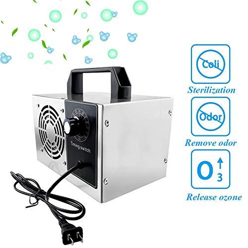 LYBC O3 Ionizer Generador de ozono para Escuela,Hotel,Tienda de Mascotas,Jardín de Infantes,Desodorante y Esterilizador,10g/h,15g/h, 20g/h Purificador de Aire