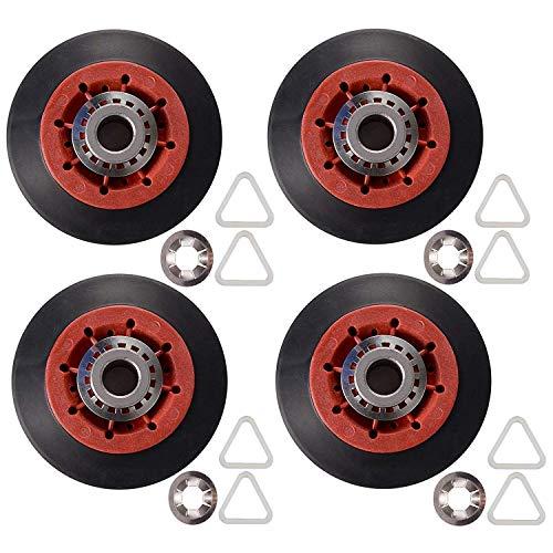 Bestlymood 4 rodillos de tambor 8536974 para secadora Kenmore, sustituye a 8536974, 8536973, W10314171, WPW10314173, PS11752609