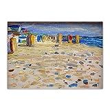 ZQXXX Wassily Kandinsky 《Holanda, sillas de playa》 Lienzo abstracto Pintura Obra de arte Imagen Fondo Decoración para el hogar -50x75cm Sin marco