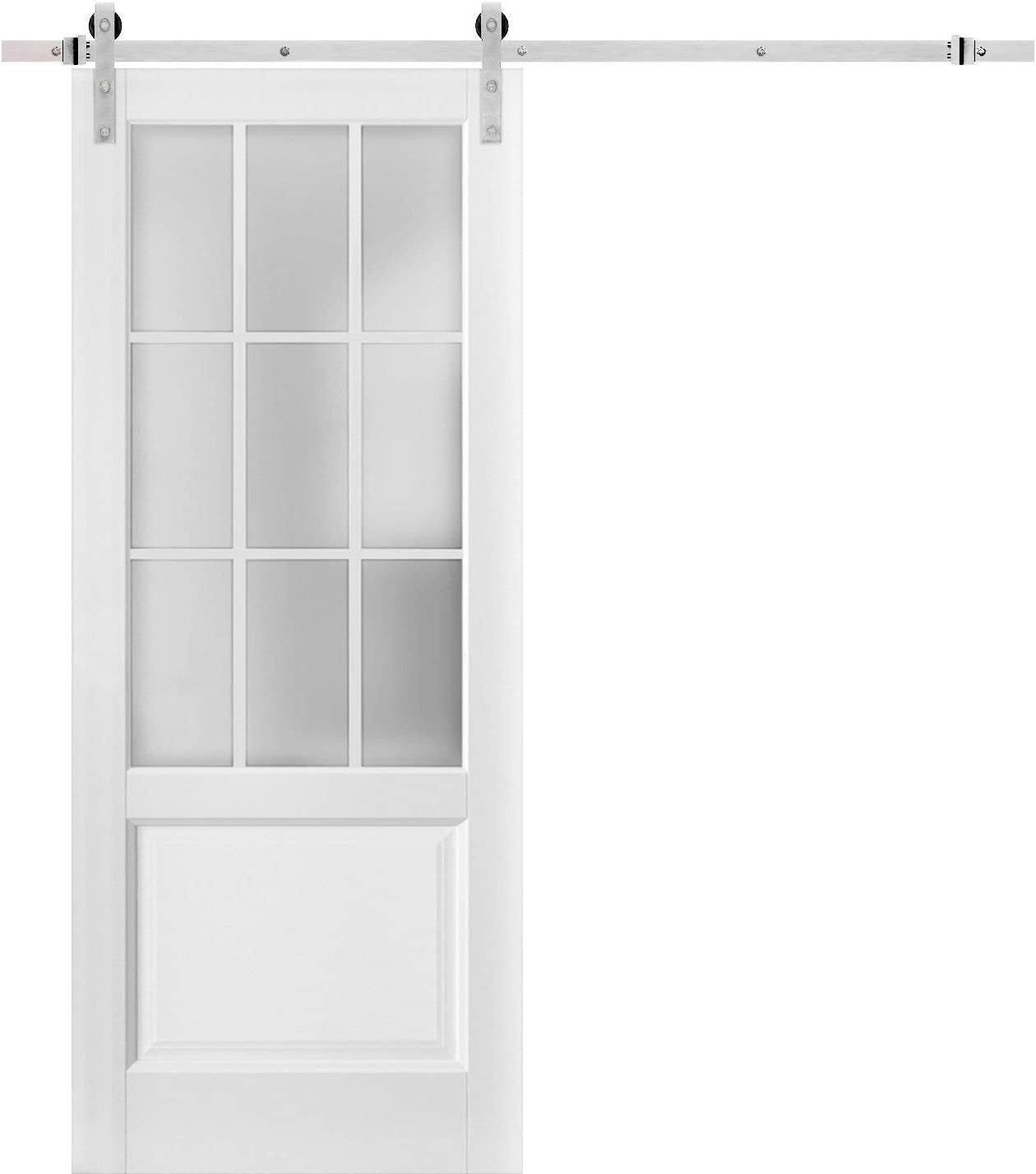 Sturdy Barn Direct store Door favorite 28 x 84 9 Frosted inches Felicia Lites Glass