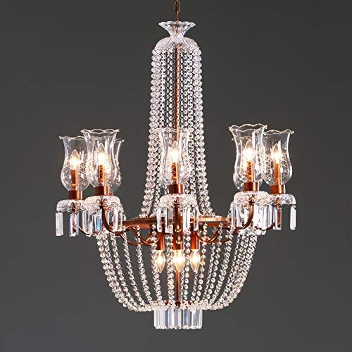 SHIJING Hotel Halle Vintage IJzeren decoratie verlichting LED kroonluchter lampen Frans koninklijke grote kristallen kroonluchter woonkamer kerk lamp