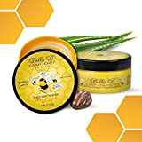 BELLA B Tummy Honey Butter 4 oz 2 Pack - Tummy Butter For Stretch Marks - Made with Organic Ingredients - Pregnancy and Baby Safe - Use Daily for Fading Stretch Marks - Perfect Baby Shower Gift
